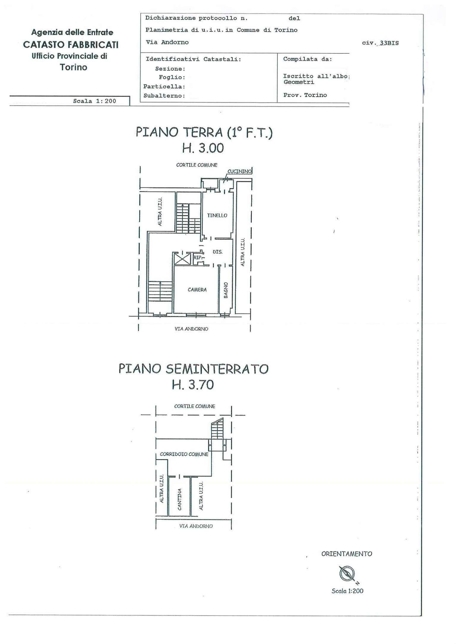 Vendita  bilocale Torino Via Andorno 1 1027473