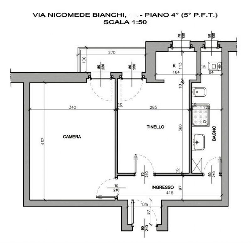 Vendita  bilocale Torino Via Nicomede Bianchi 1 685214