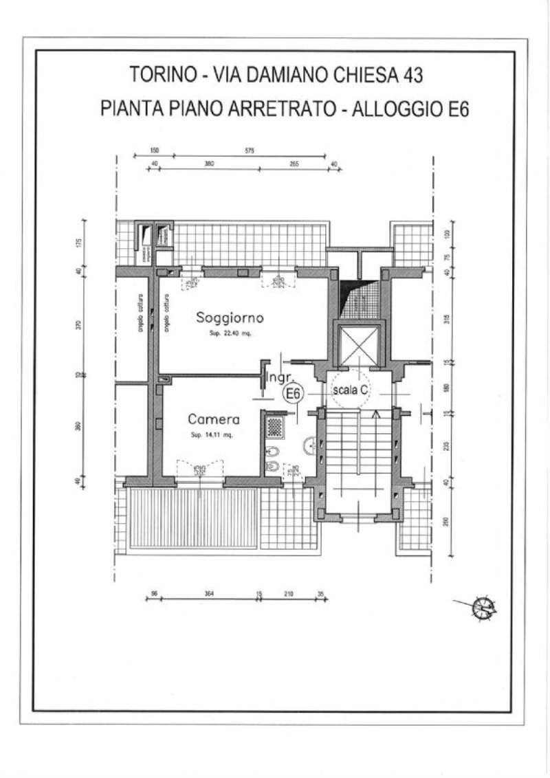 Vendita  bilocale Torino Via Damiano Chiesa 1 695385