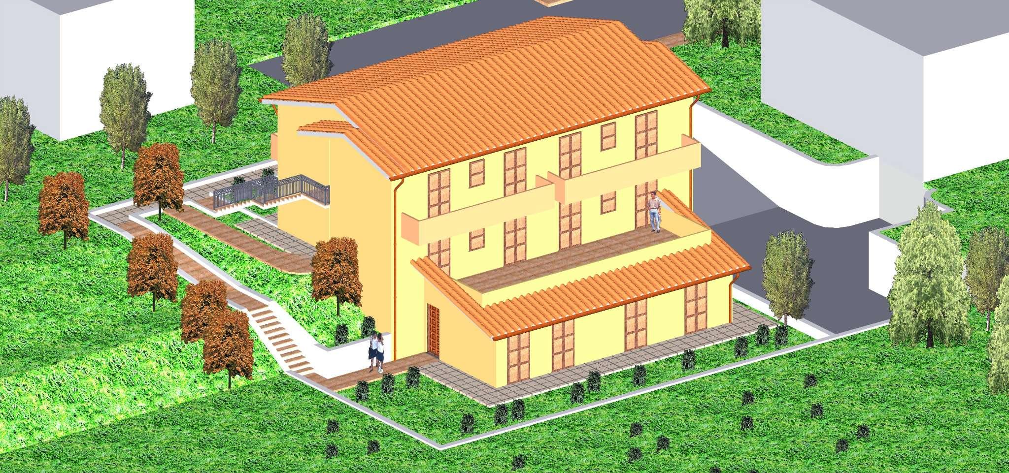 Villa Tri-Quadrifamiliare in vendita a Polverigi, 4 locali, prezzo € 260.000 | Cambio Casa.it