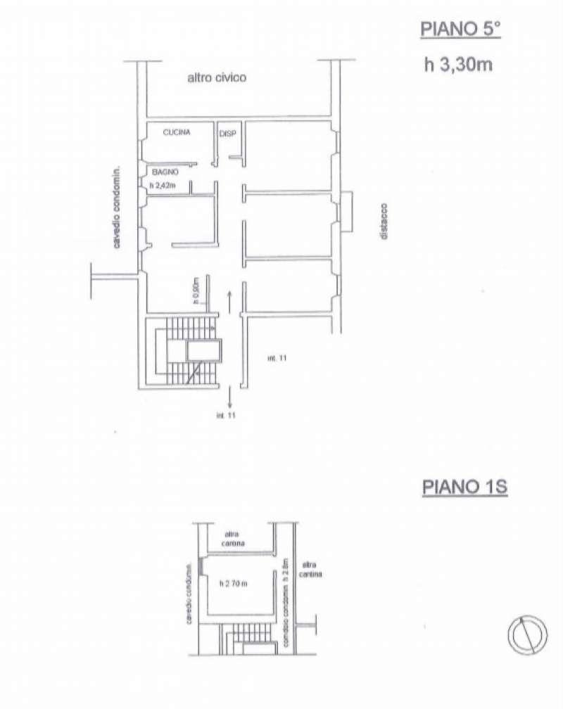 Foto 12 di Appartamento corso Torino, Genova (zona Carignano, Castelletto, Albaro, Foce)