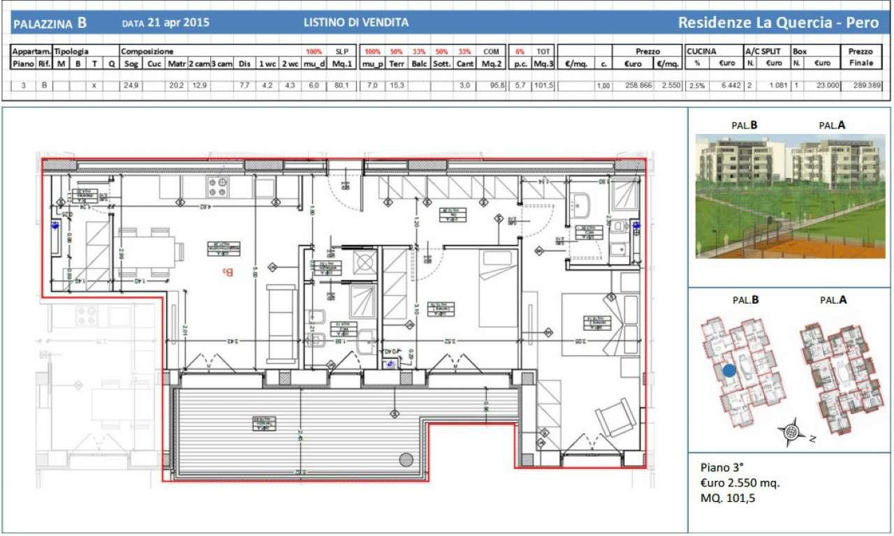 Appartamento in vendita a Pero, 3 locali, prezzo € 258.866 | Cambio Casa.it
