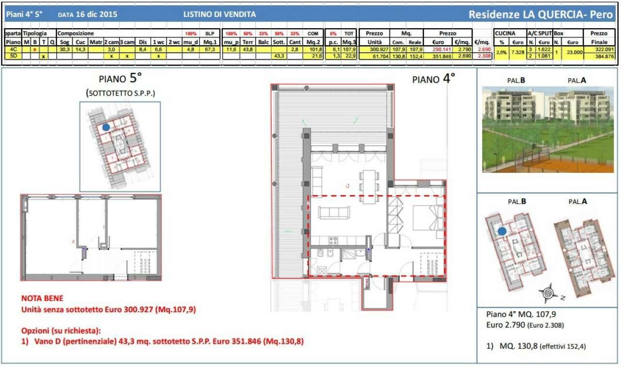 Appartamento in vendita a Pero, 4 locali, prezzo € 300.927 | Cambio Casa.it