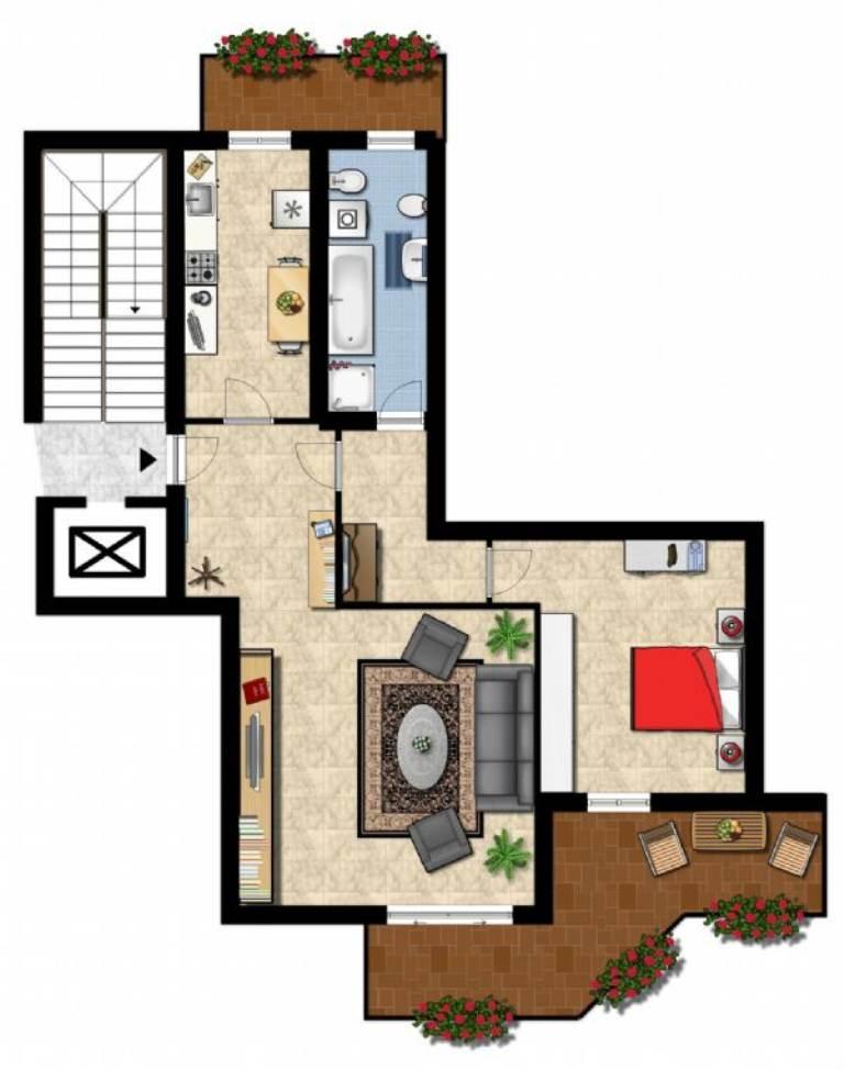 Appartamento in affitto a Bollate, 2 locali, prezzo € 600 | Cambio Casa.it