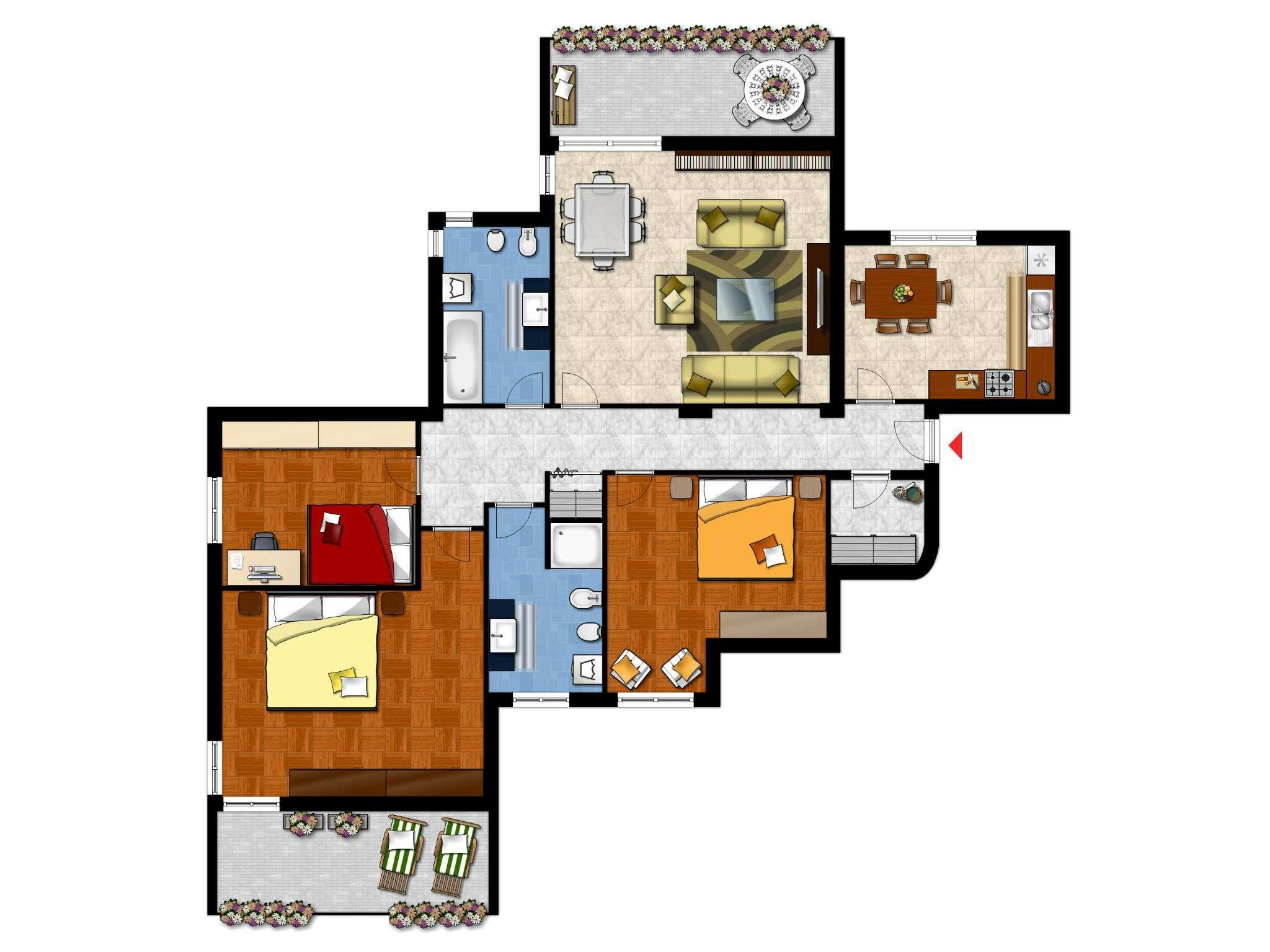 Appartamento in affitto a Arese, 4 locali, prezzo € 950 | Cambio Casa.it
