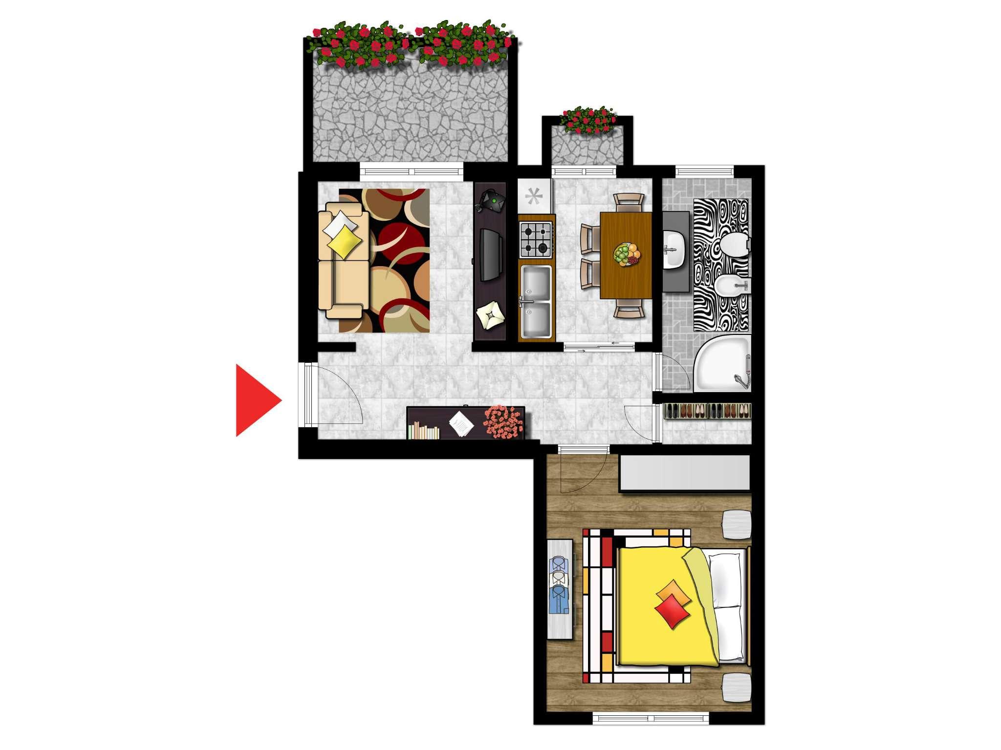 Appartamento in affitto a Cesano Boscone, 2 locali, prezzo € 445 | CambioCasa.it