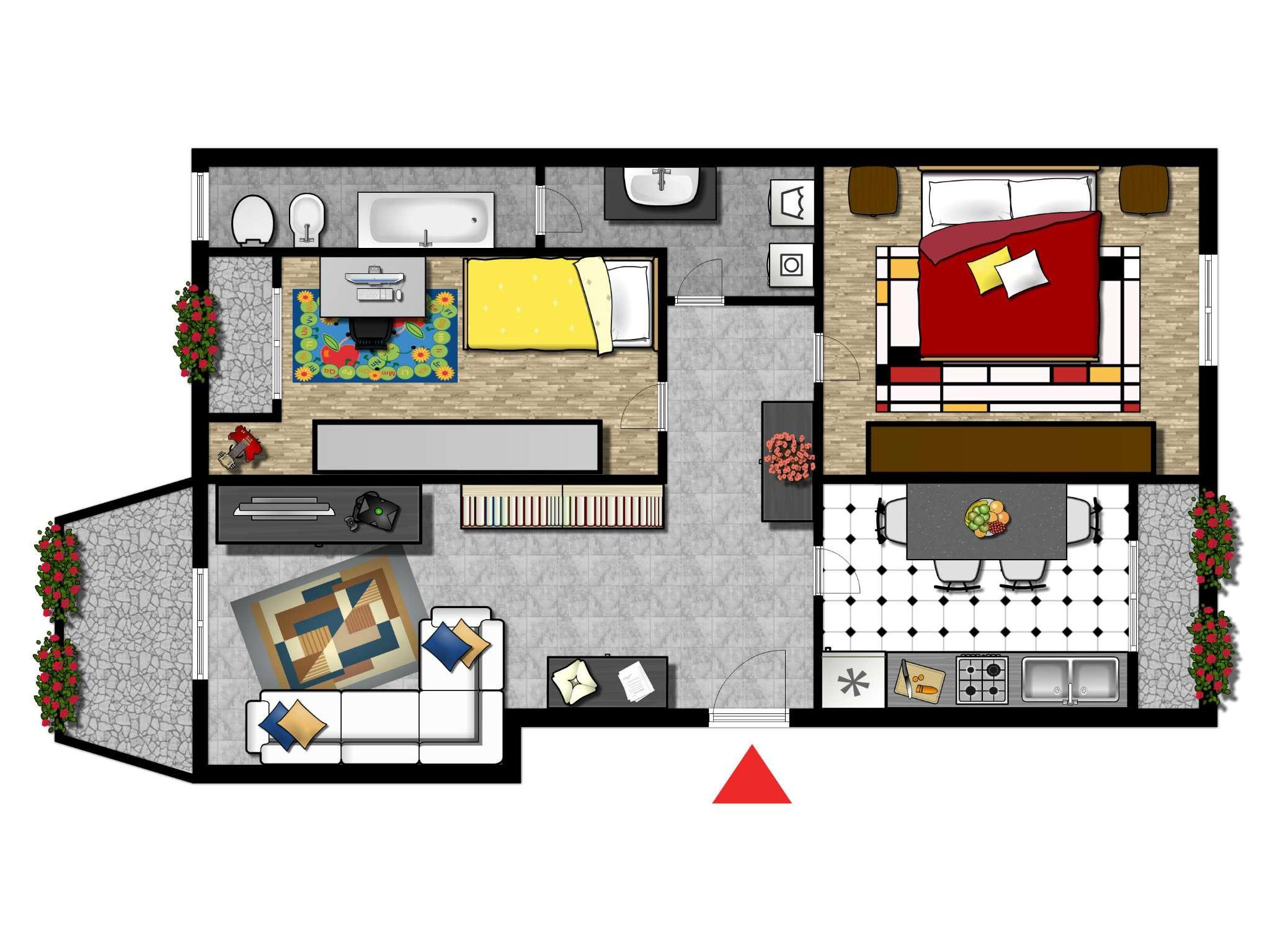 Appartamento in affitto a Cesano Boscone, 3 locali, prezzo € 490 | CambioCasa.it