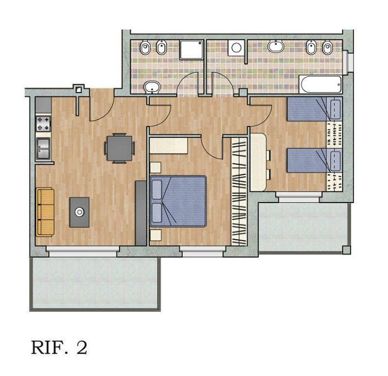 Appartamento in vendita a Carugate, 2 locali, prezzo € 191.800   Cambio Casa.it