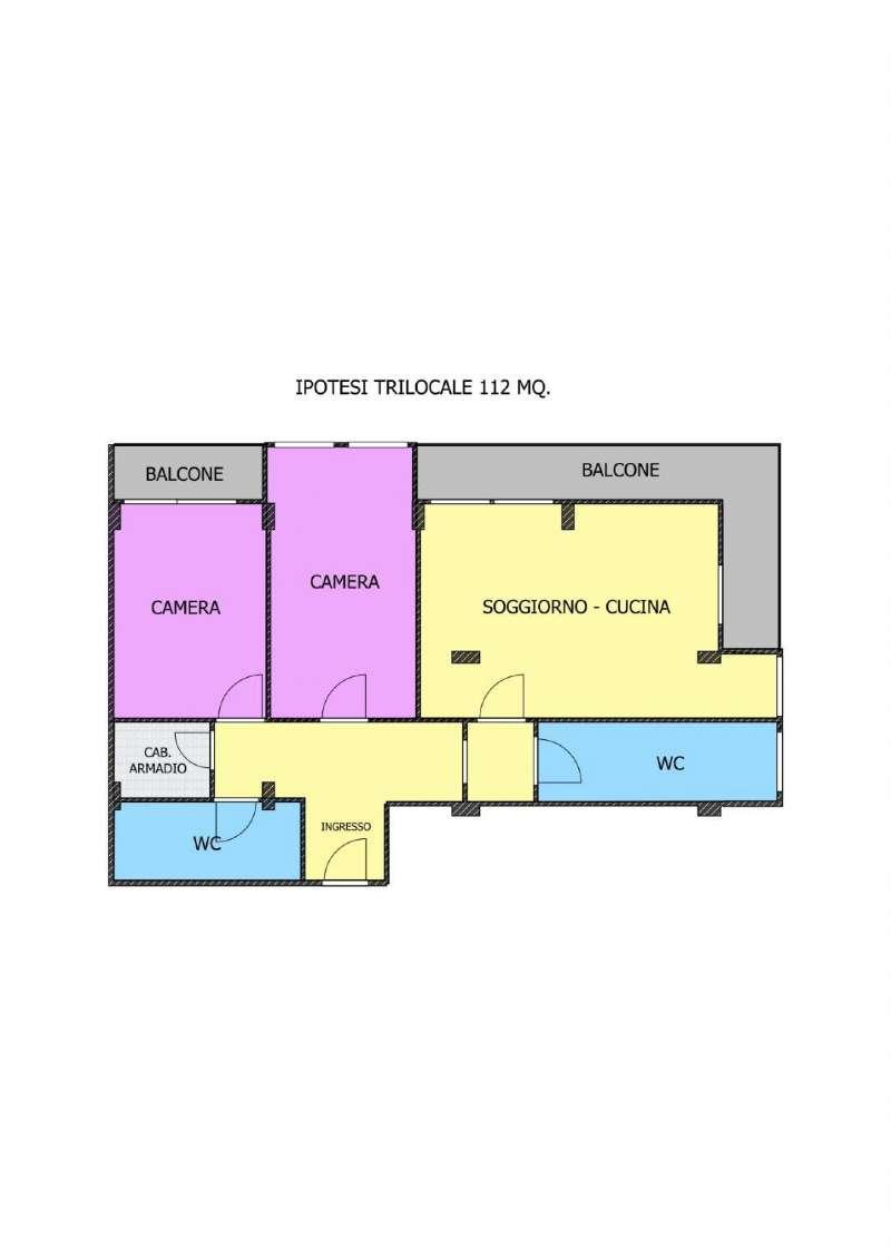Appartamento in Vendita a Milano 08 Vercelli / Magenta / Cadorna / Washington: 3 locali, 121 mq