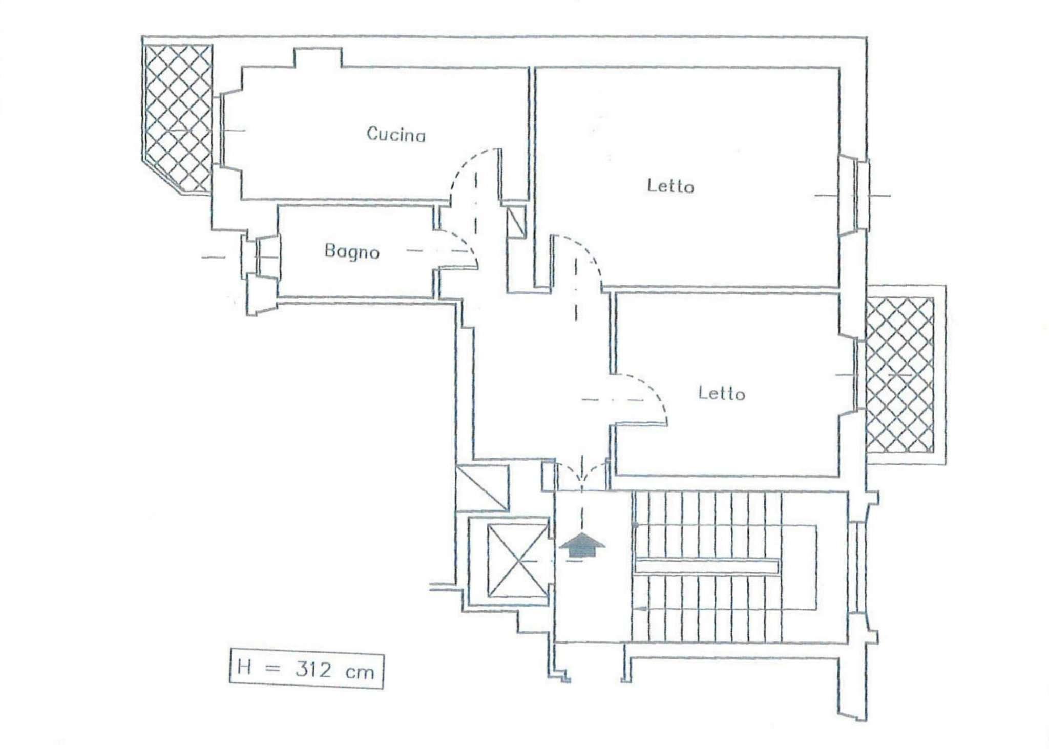 Affitto  bilocale Torino Corso Bramante 1 1089415