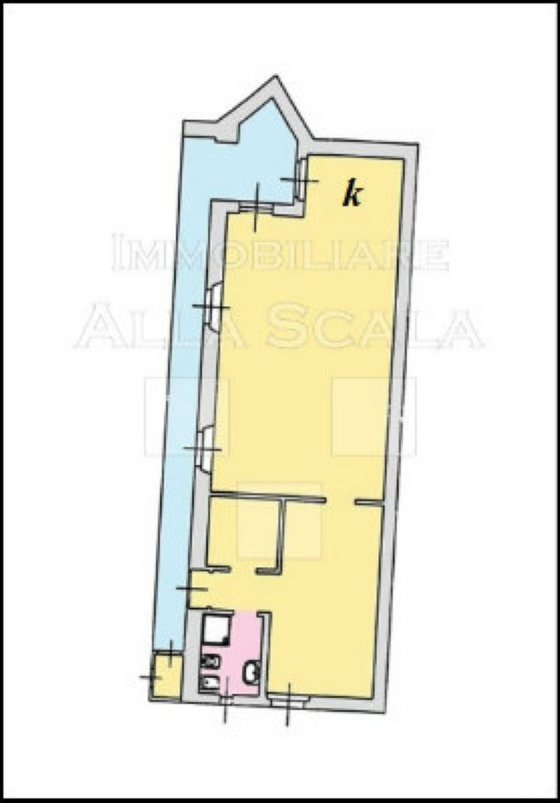 Affitto  bilocale Milano Via San Vittore 1 899397