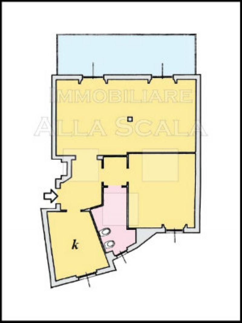 Affitto  bilocale Milano Via Quadronno 1 899396