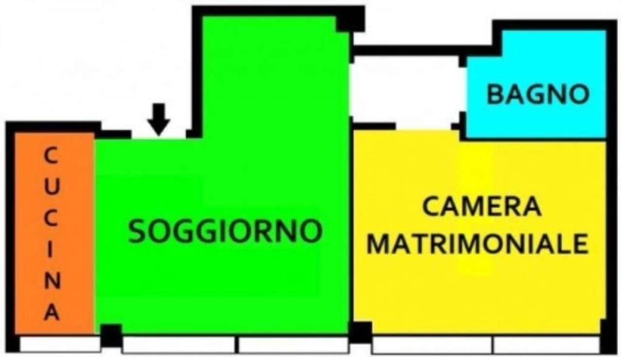 Bilocale Milano Via Ettore Ponti 1
