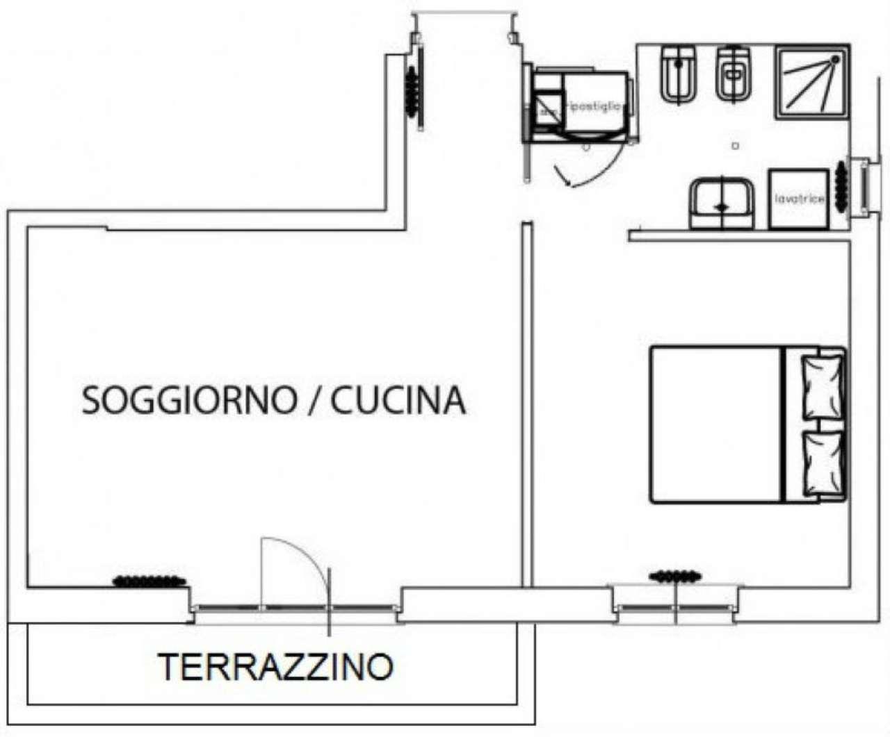 Vendita  bilocale Milano Via Imperia 1 996889