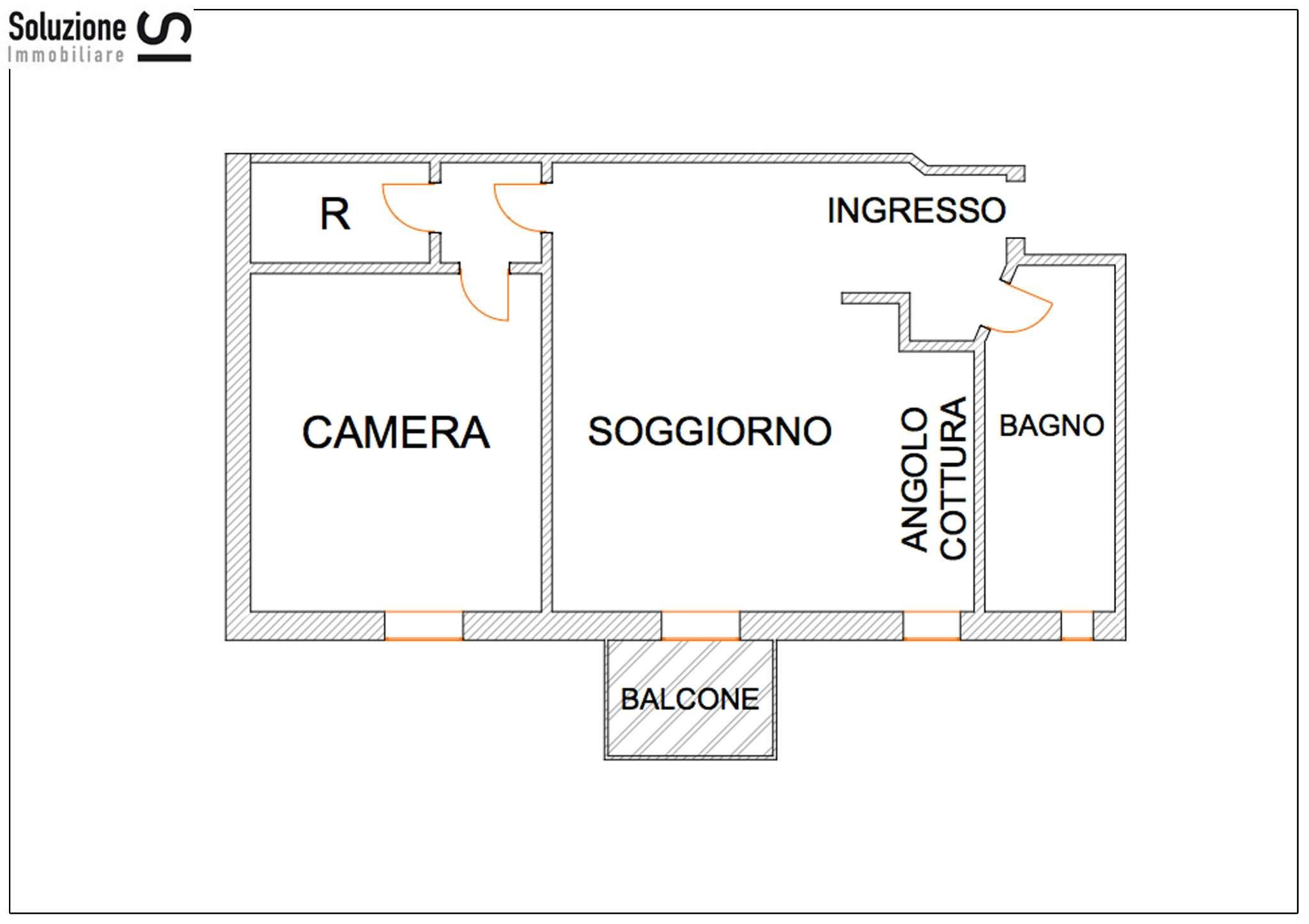 Bilocale Cesano Boscone Via Roma 7