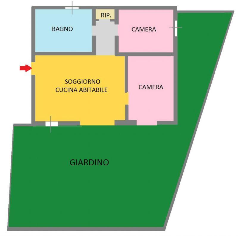 Vendita  bilocale San Giuliano Milanese Via Via Pisacane 1 841513