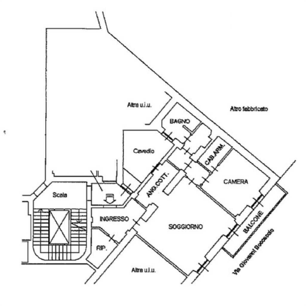 Affitto  bilocale Milano Via Giacomo Leopardi 1 873332
