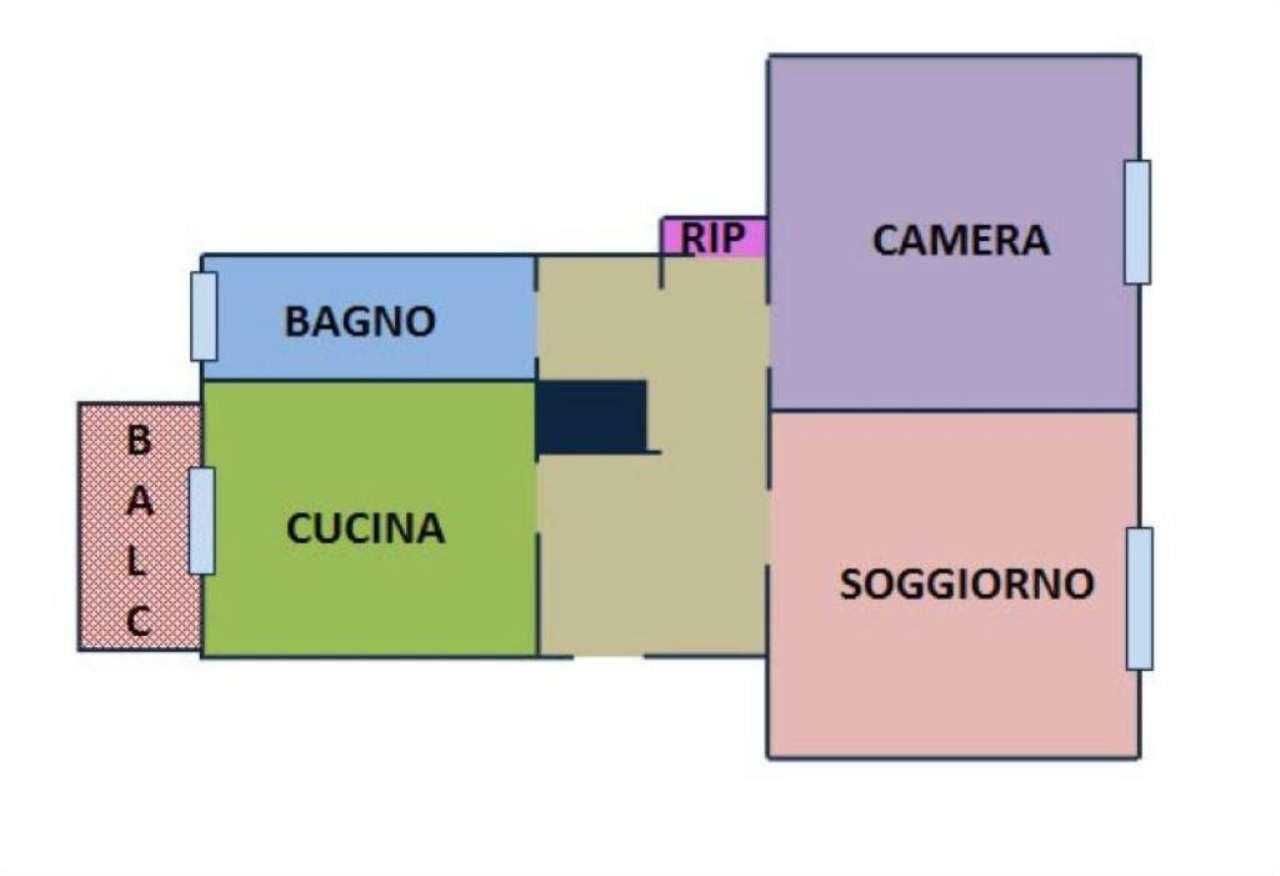 Vendita  bilocale Milano Via Agostino De Pretis 1 937692