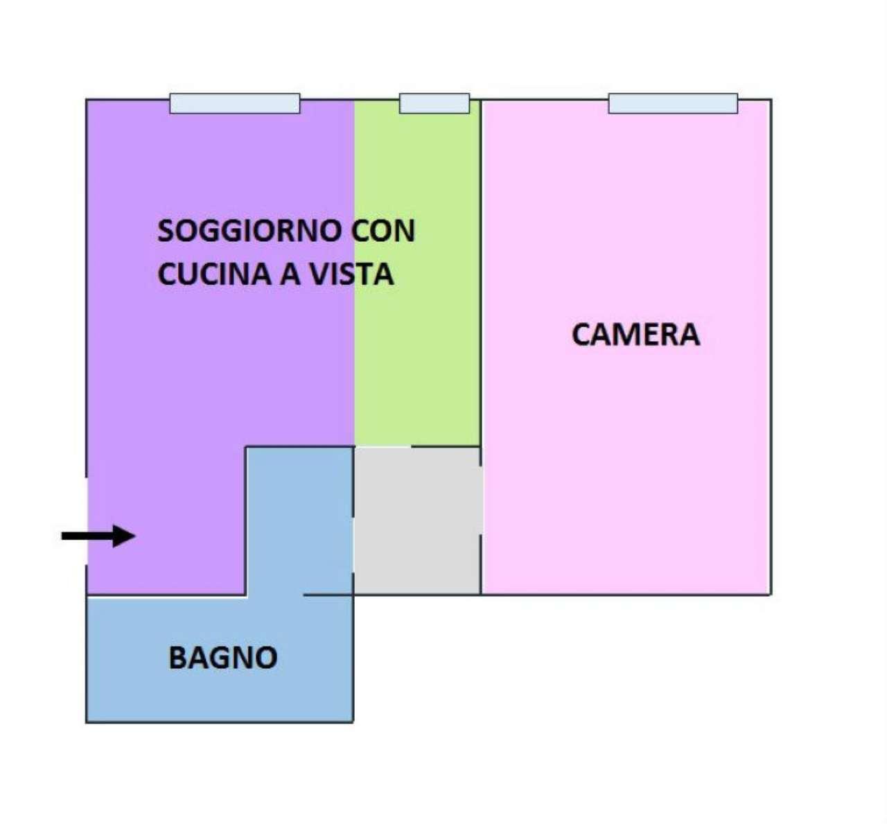 Vendita  bilocale Milano Via De Sanctis 1 1023509