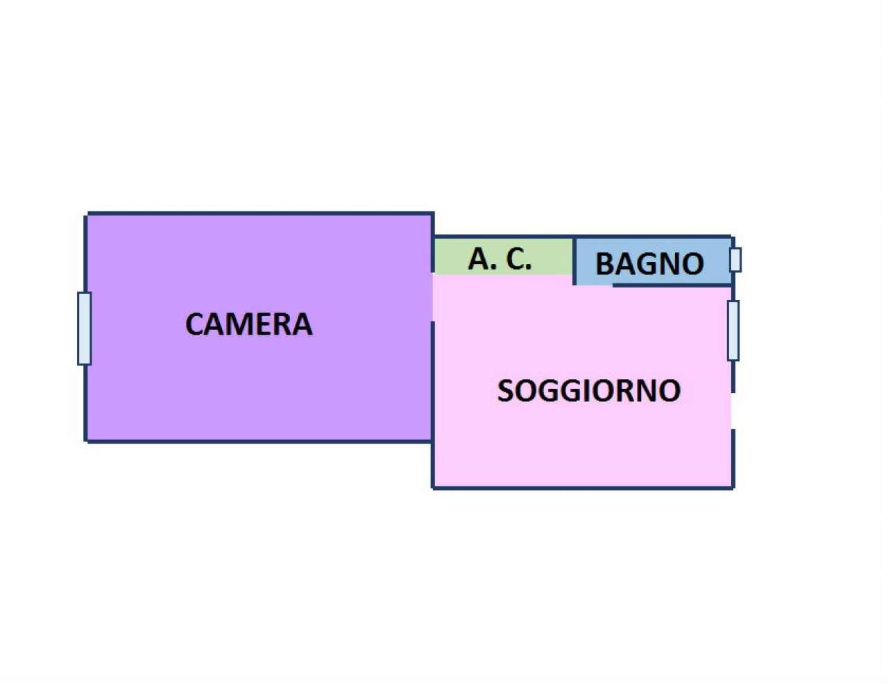 Vendita  bilocale Milano Via Montegani 1 874888