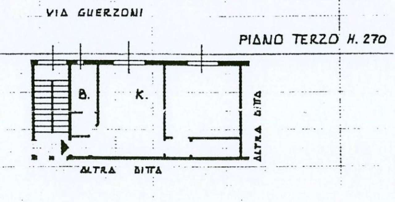 Vendita  bilocale Milano Via Guerzoni 1 947770