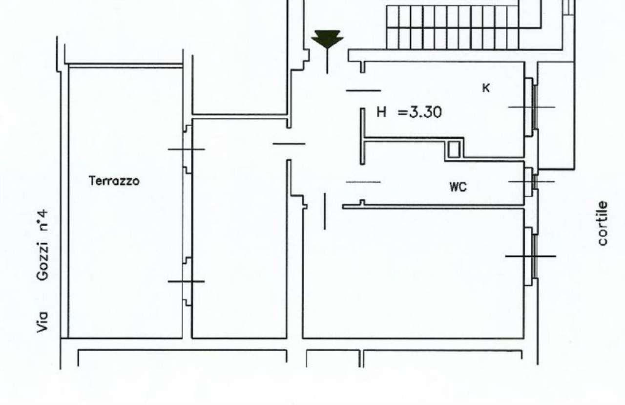 Affitto  bilocale Milano Via Gozzi 1 961135
