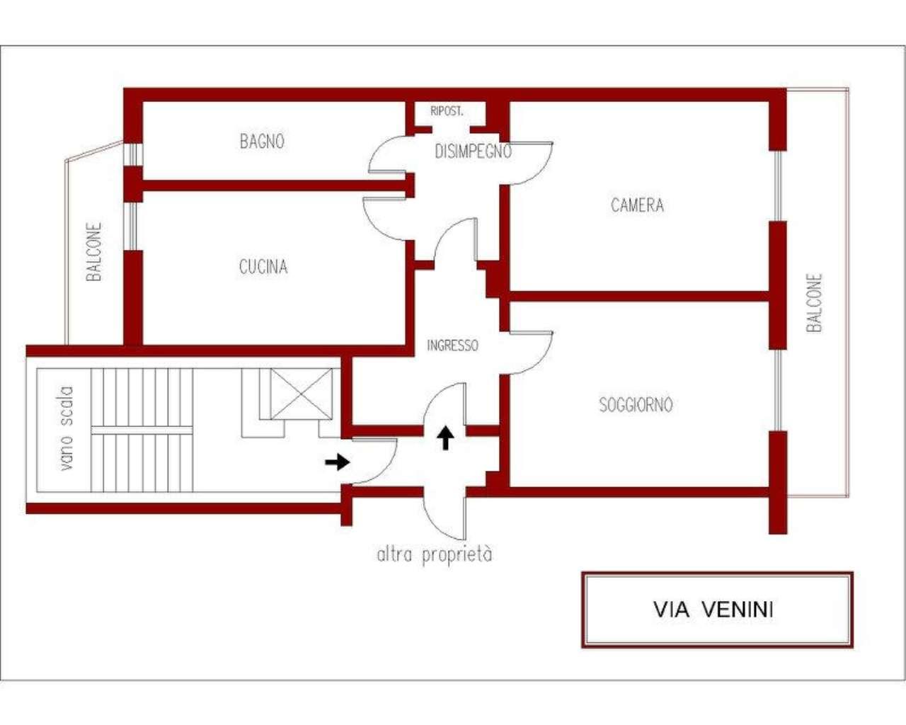 Vendita  bilocale Milano Piazza Caiazzo 1 548466