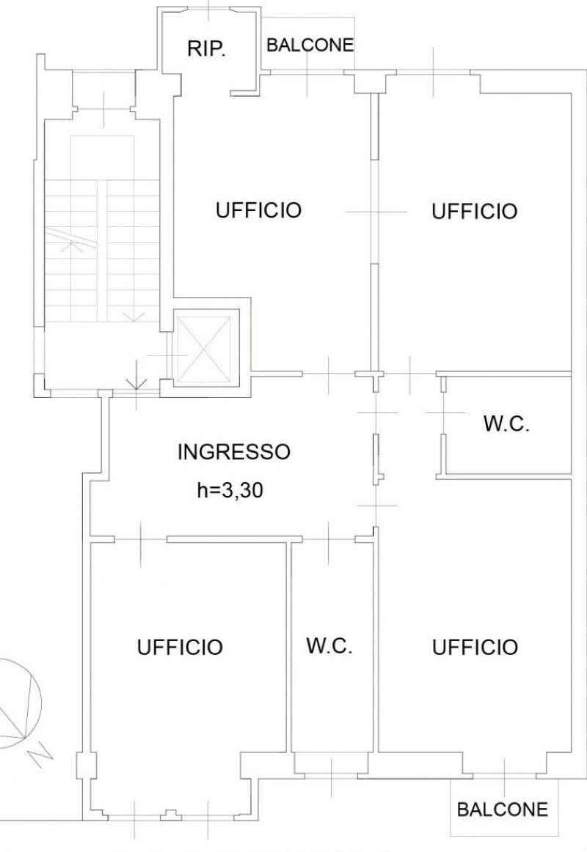 Ufficio / Studio in affitto a Milano, 4 locali, zona Zona: 2 . Repubblica, Stazione Centrale, P.ta Nuova, B. Marcello, prezzo € 2.000 | Cambio Casa.it