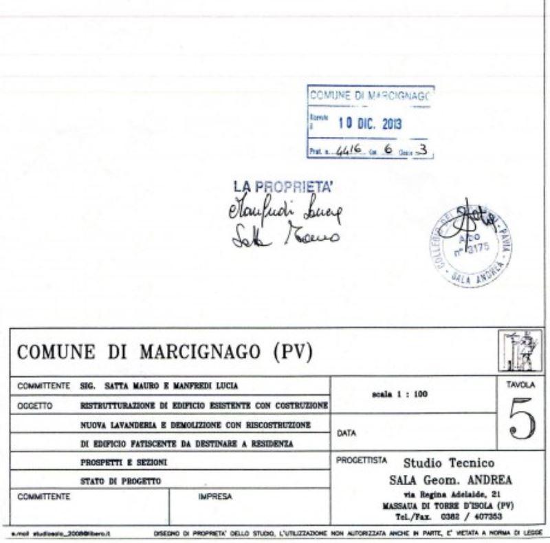 Vendita  bilocale Marcignago Vicolo Miradolo 1 929246