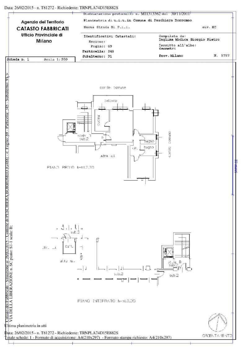 Appartamento in vendita a Peschiera Borromeo, 3 locali, prezzo € 240.000 | Cambio Casa.it