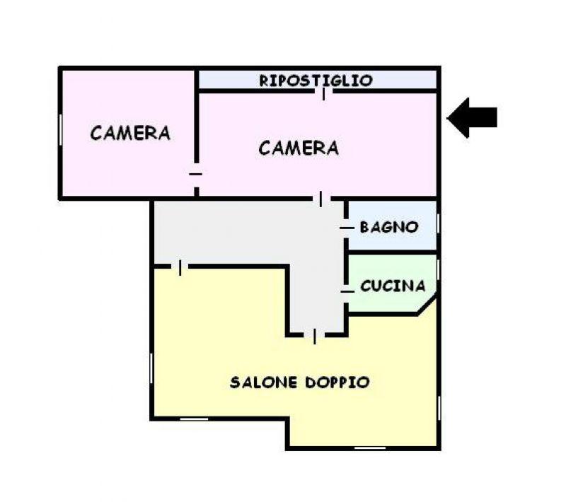 Appartamento in affitto a San Giorgio a Cremano, 4 locali, prezzo € 500 | Cambio Casa.it