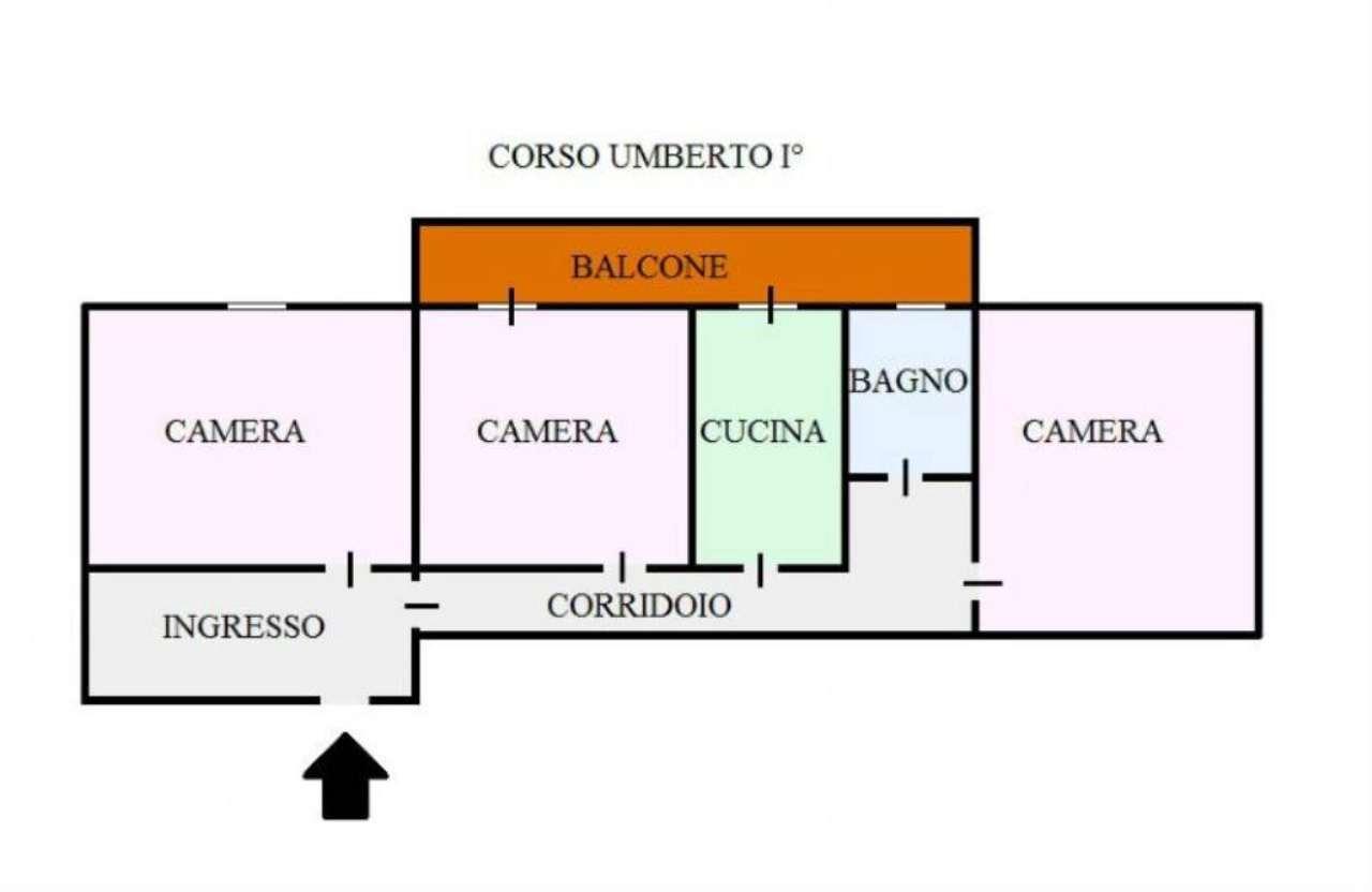 Appartamento in vendita a San Giorgio a Cremano, 3 locali, prezzo € 190.000 | Cambio Casa.it