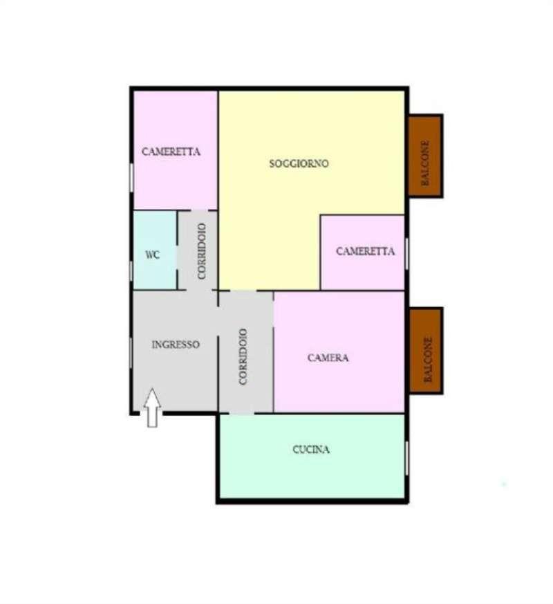 Appartamento in affitto a Napoli, 3 locali, zona Zona: 6 . Ponticelli, Barra, San Giovanni a Teduccio, prezzo € 400   Cambio Casa.it