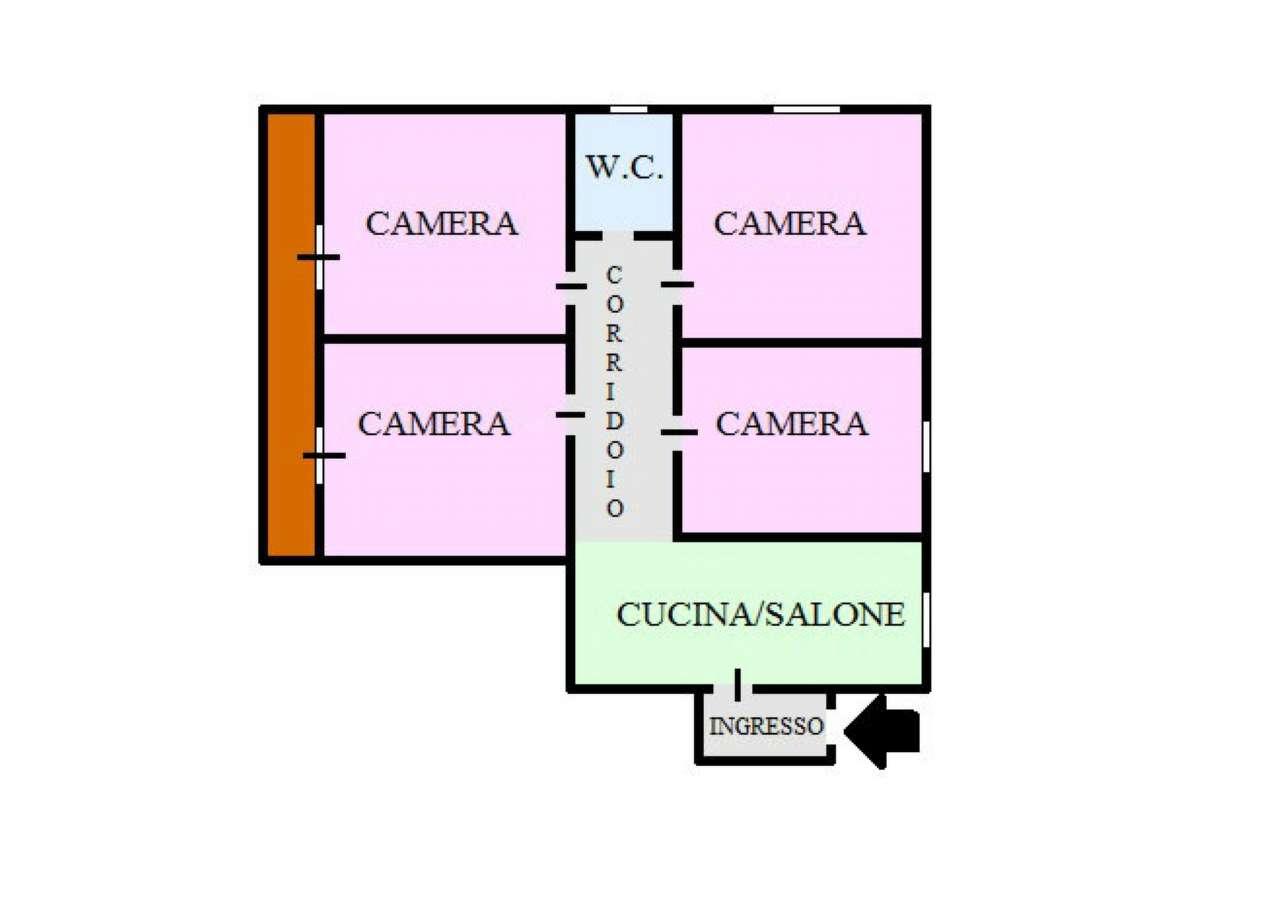 Appartamento in affitto a San Giorgio a Cremano, 4 locali, prezzo € 500 | CambioCasa.it