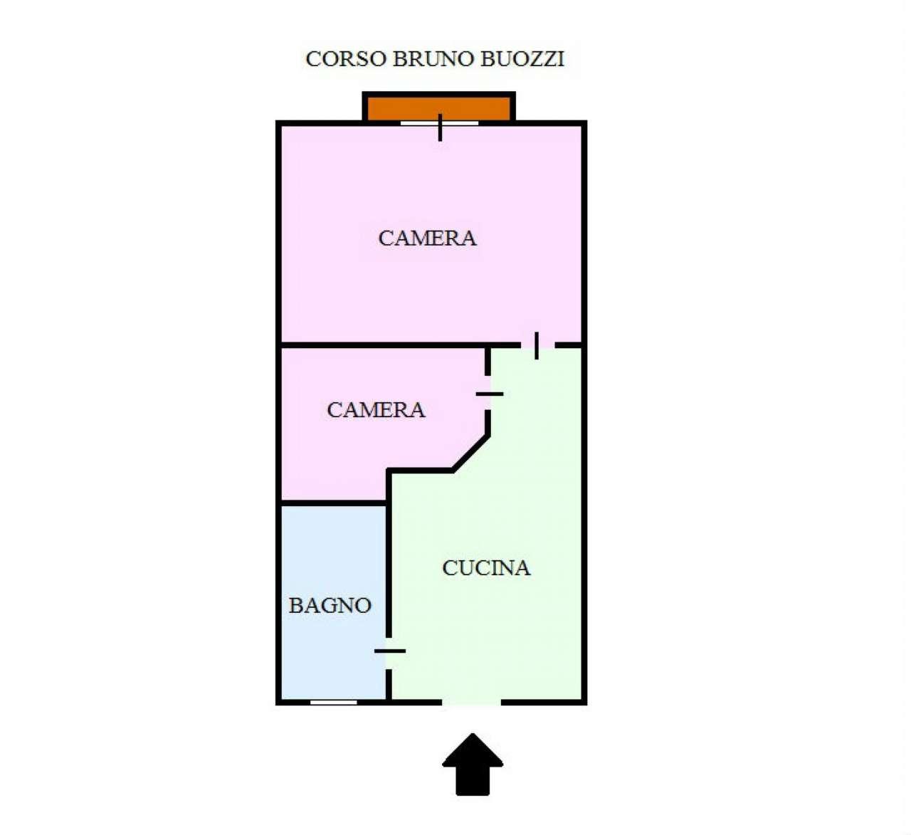 Vendita  bilocale Napoli Corso Bruno Buozzi 1 1229645