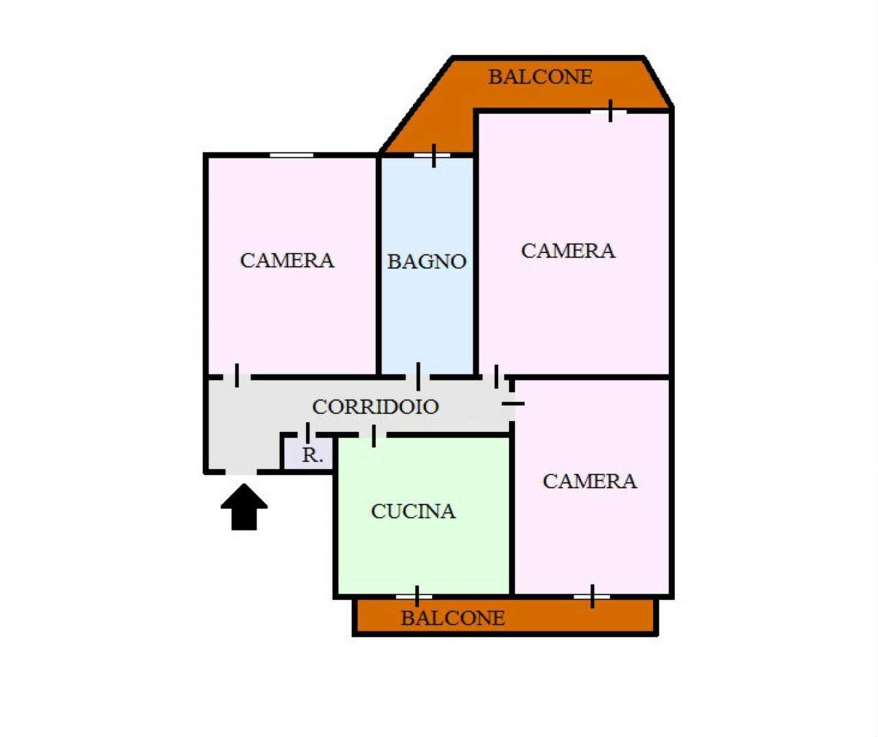 Appartamento in vendita a Cercola, 3 locali, prezzo € 130.000 | CambioCasa.it