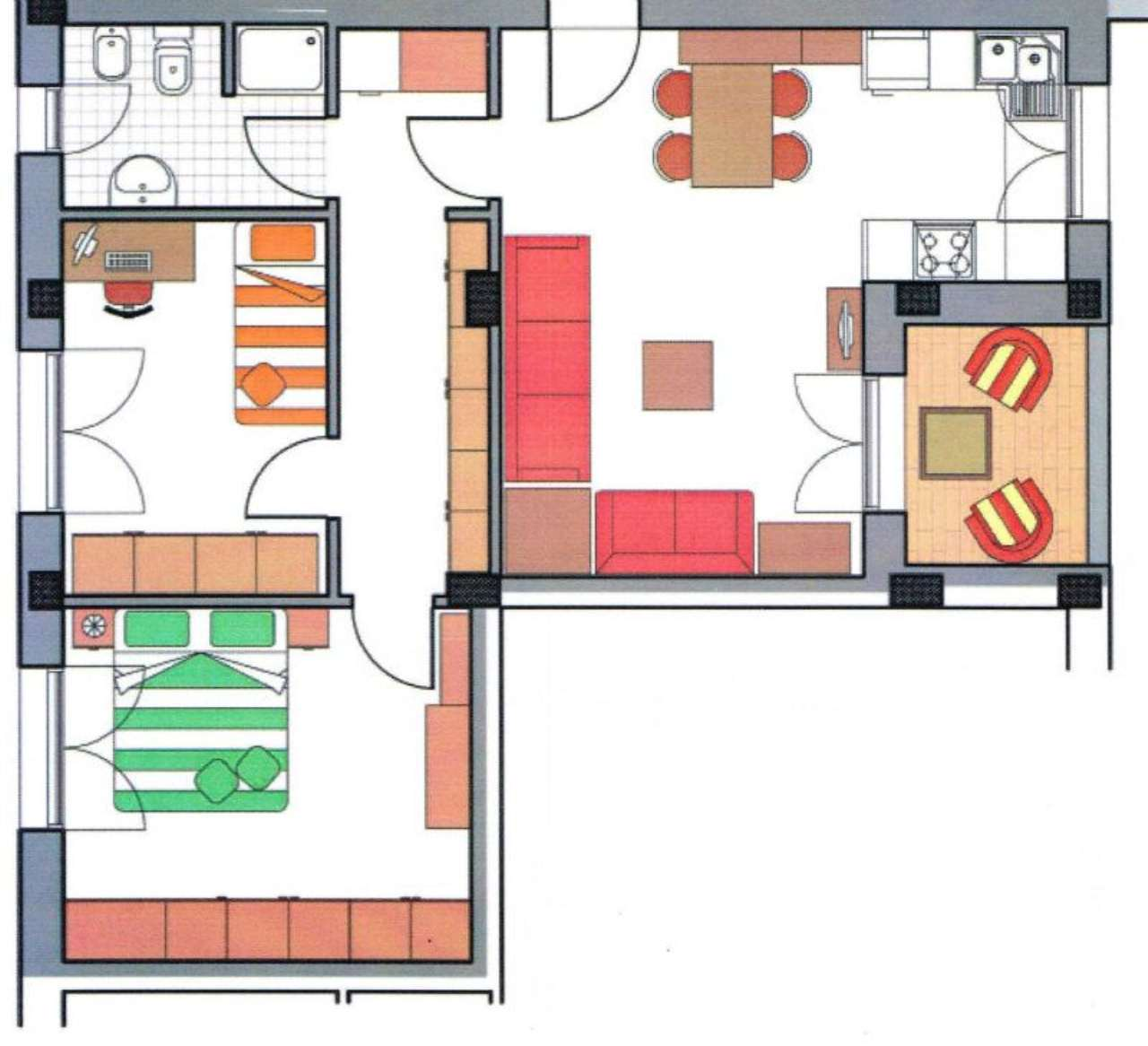Appartamento in vendita a San Giovanni in Persiceto, 3 locali, prezzo € 150.000 | Cambio Casa.it