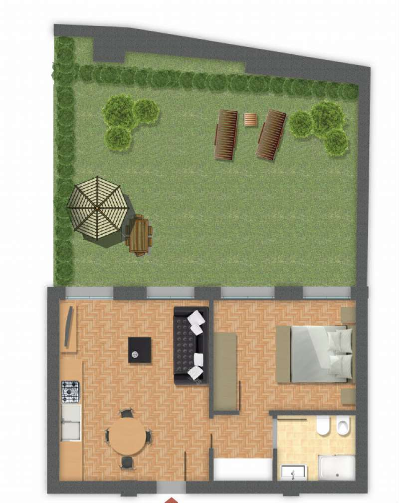 Appartamento in vendita 2 vani 60 mq.  via goito 18 Bologna