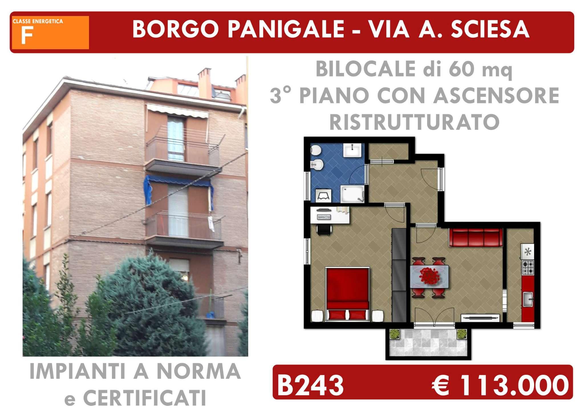 Bilocale Bologna Via Amatore Sciesa 1