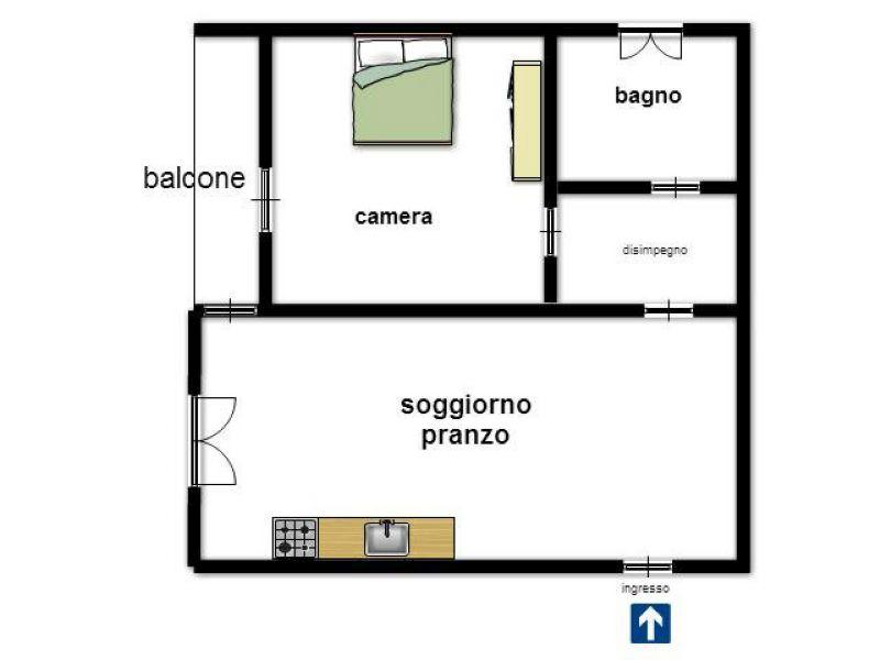 Affitto  bilocale Pisa Via Paolo Vi 1 913540