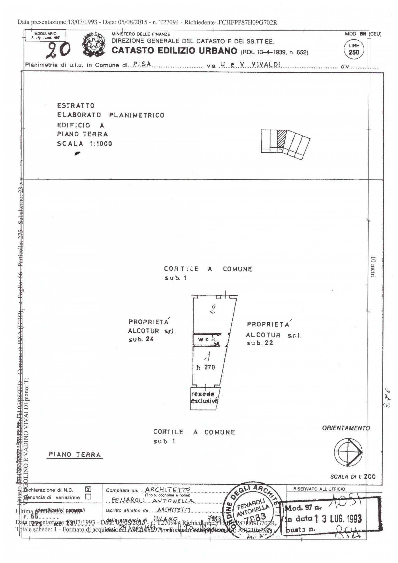 Vendita  bilocale Pisa Via Mander 1 848548