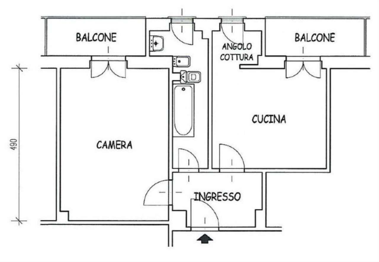 Bilocale Torino Via Forli' 3