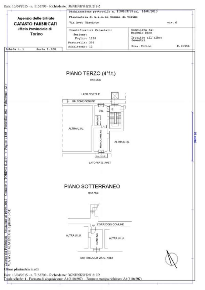 Vendita  bilocale Torino Via Avet 1 1073271