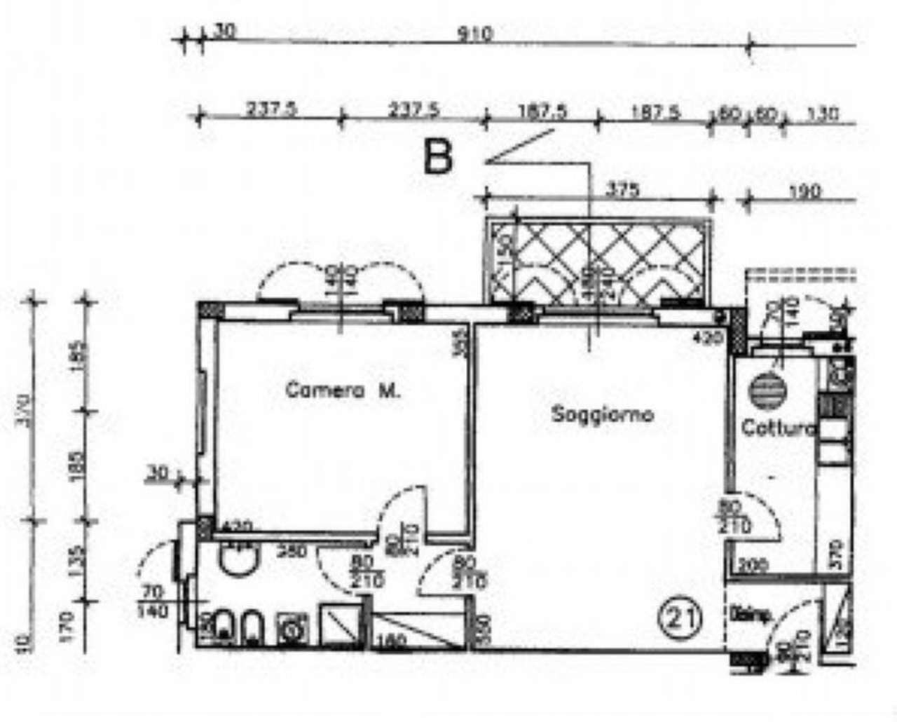 Vendita  bilocale Turate Viale Roma 1 1067455