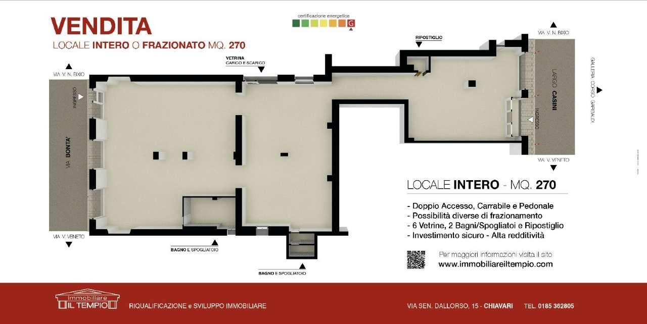 Negozio / Locale in vendita a Chiavari, 9999 locali, prezzo € 260.000 | CambioCasa.it