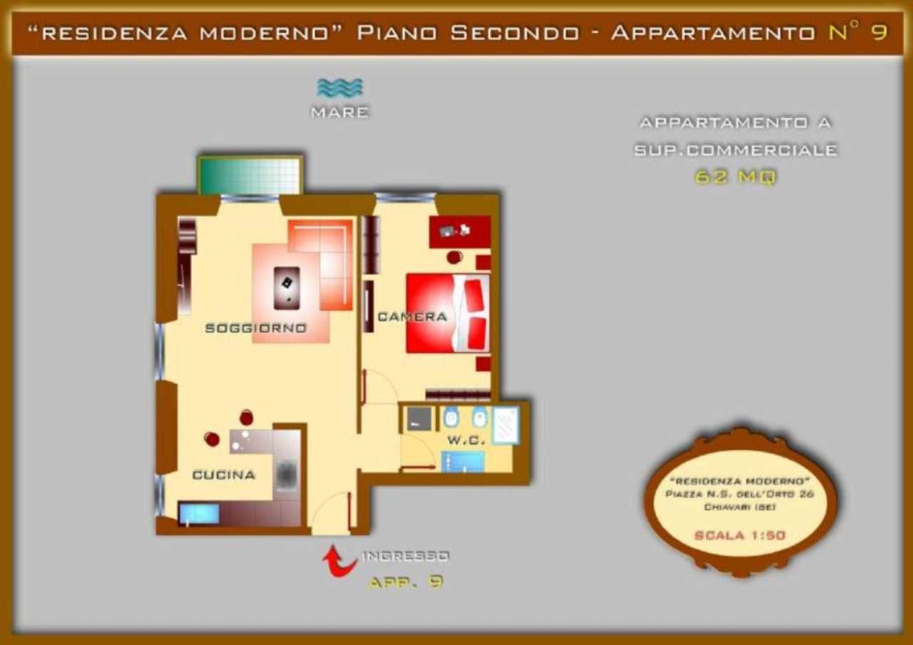 Vendita  bilocale Chiavari Piazza Nostra Signora Dell'orto 1 868761