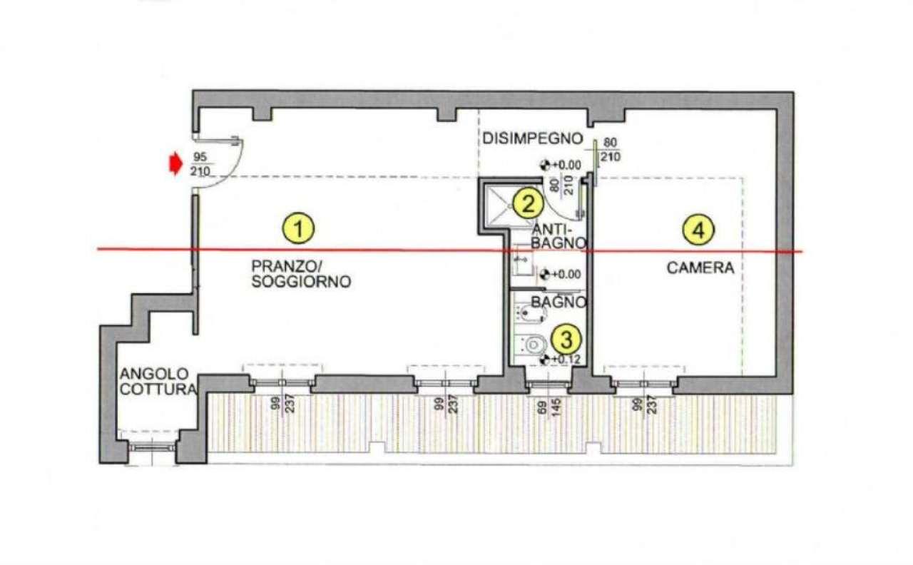 Vendita  bilocale Milano Via Garian 1 1087367