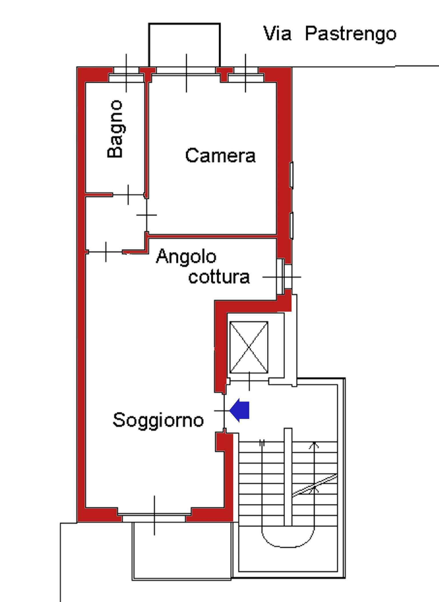 Bilocale Moncalieri Via Pastrengo 11