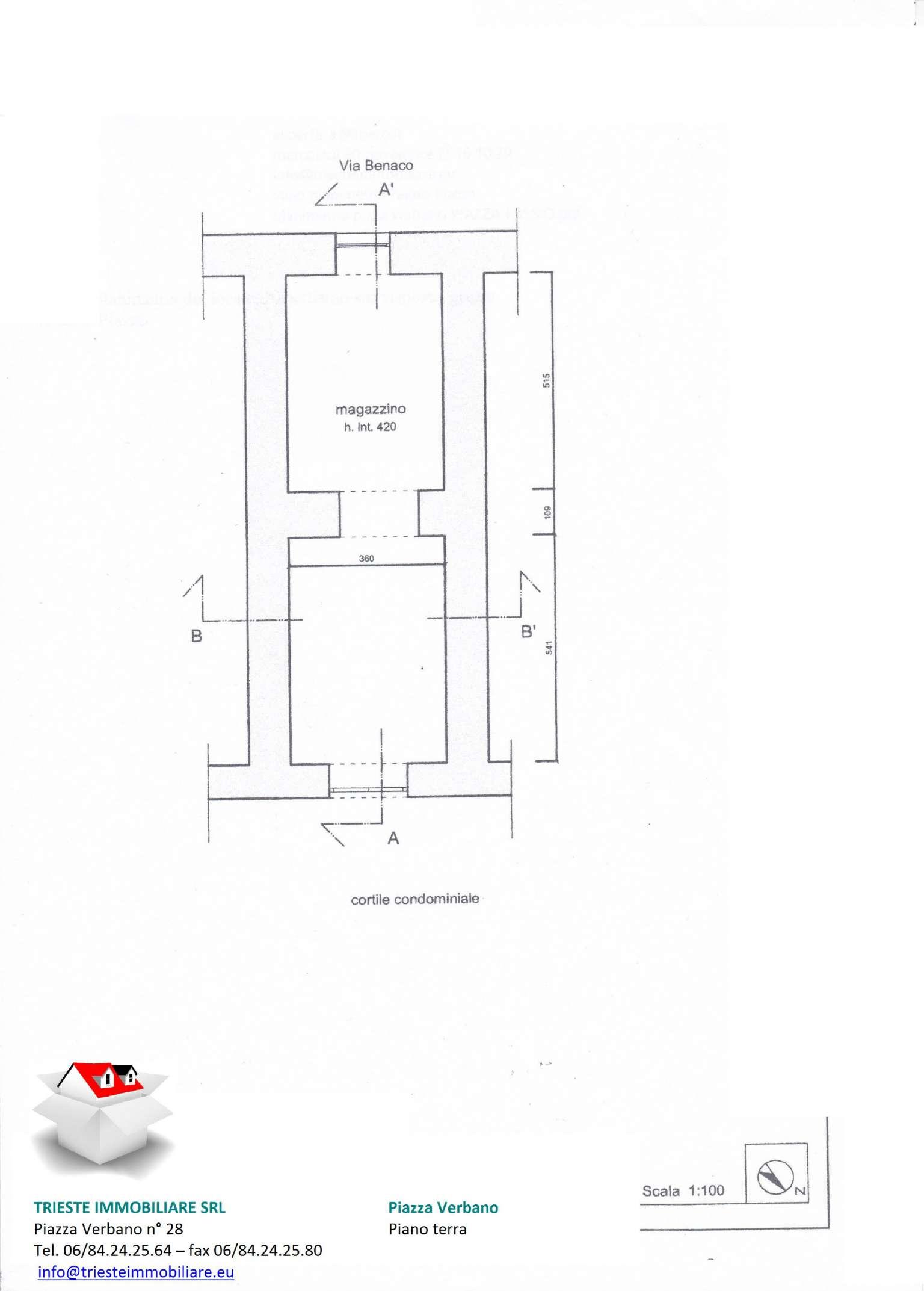 Magazzino in affitto a Roma, 2 locali, zona Zona: 3 . Trieste - Somalia - Salario, prezzo € 550 | Cambio Casa.it