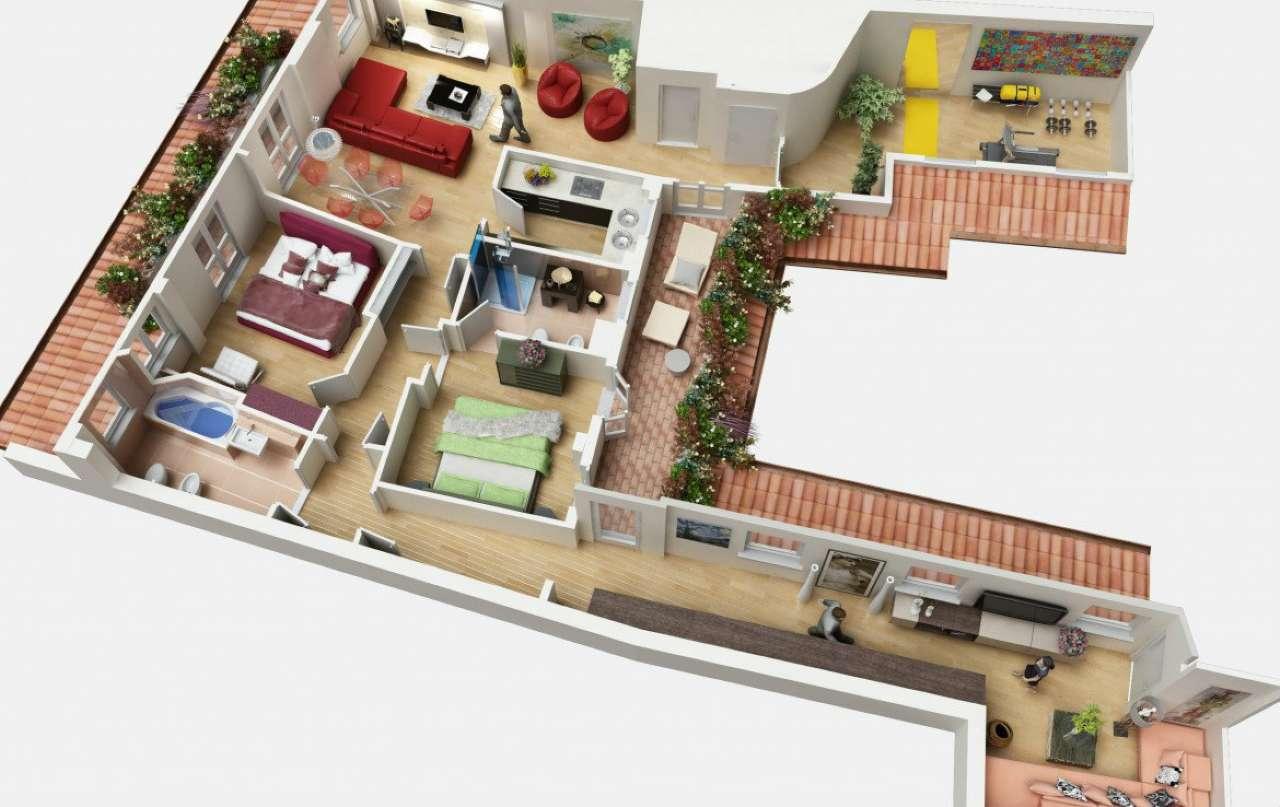 Appartamento in Affitto a Milano 01 Centro storico (Cerchia dei Navigli): 5 locali, 155 mq
